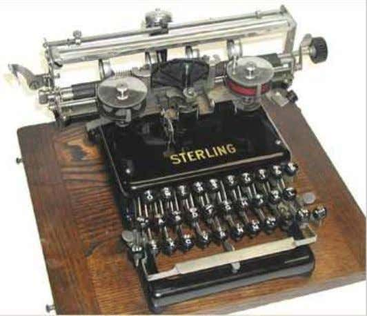 Sterling (improved) First year of production: Company: Sterling Typewriter Co, New York, USA Serial nr: