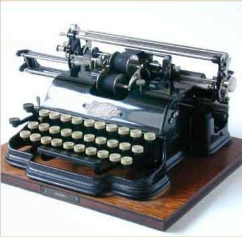 Munson 2 First year of production: Company: Munson Typewriter Company, Chicago, USA Serial nr: 7877