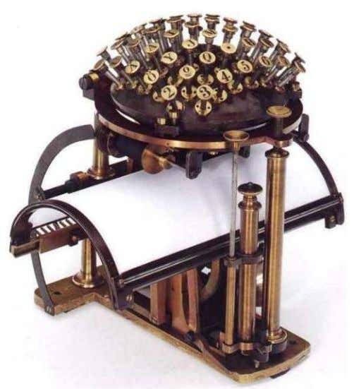 Malling Hansen's Writing Ball c. 1870 The Hansen Writing Ball was invented in 1865 by the