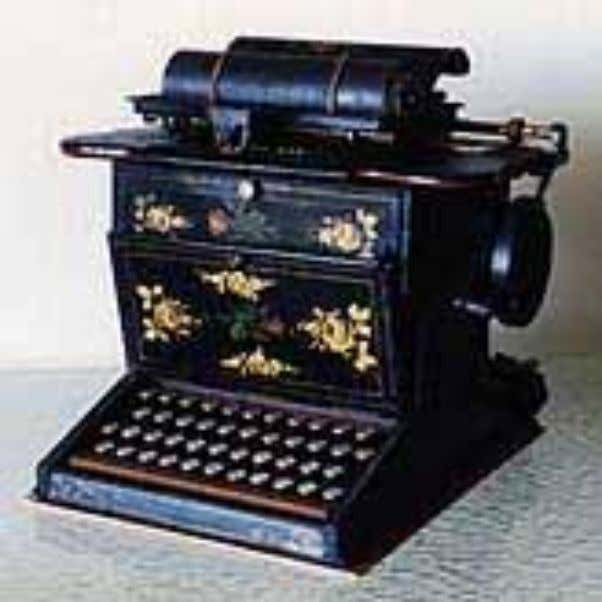 "It was called the ""Sholes & Glidden Type Writer,"" and it was produced by the"