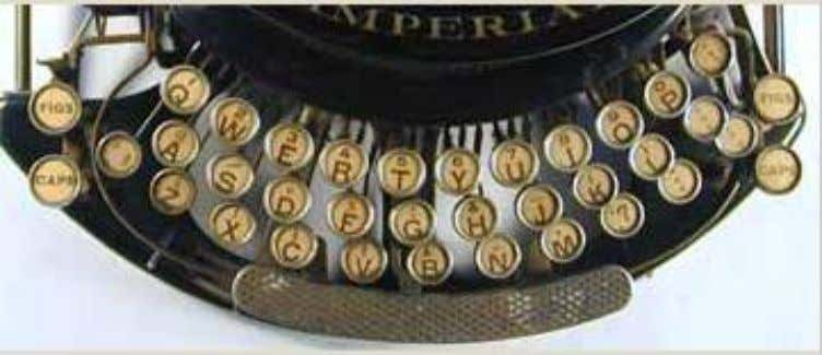 Keyboard typewriters Keyboard typewriters are typewriters that are operated by pushing a key, or combination