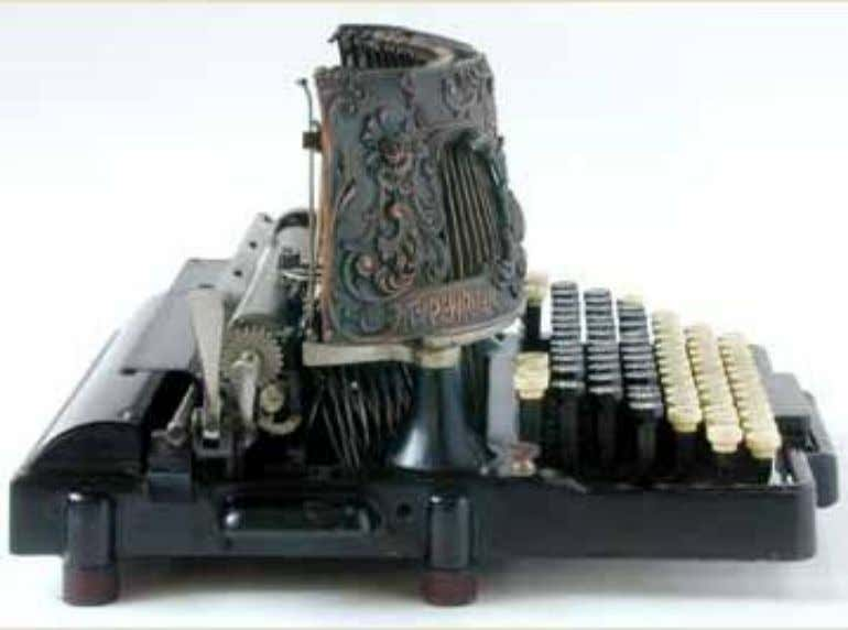 Downstrike keyboard typewriters If you can't read what you write when the letters hit the