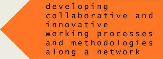developing collaborative and innovative working processes and methodologies along a network