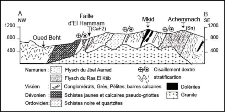 of the El Hammam – Achmmach district (Izart et al., 2001). F F I I G