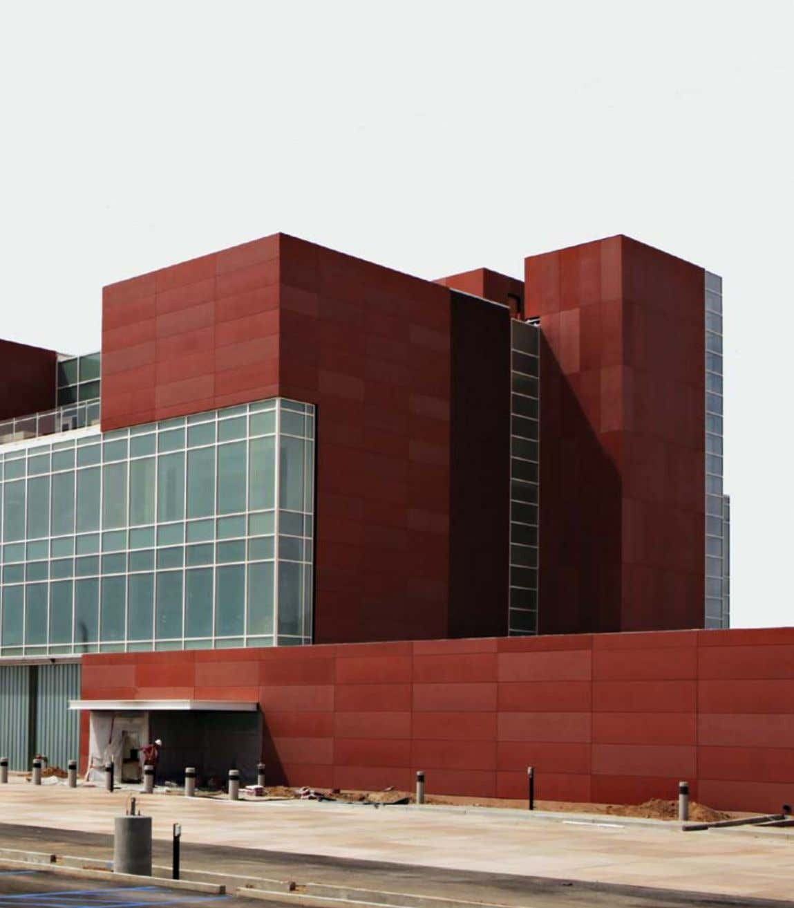 UNM Cancer Center, New Mexico (US) 1.500 m² concrete skin 13 mm / terracotta verschiedene