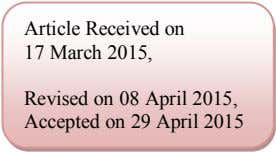 Article Received on 17 March 2015, Revised on 08 April 2015, Accepted on 29 April