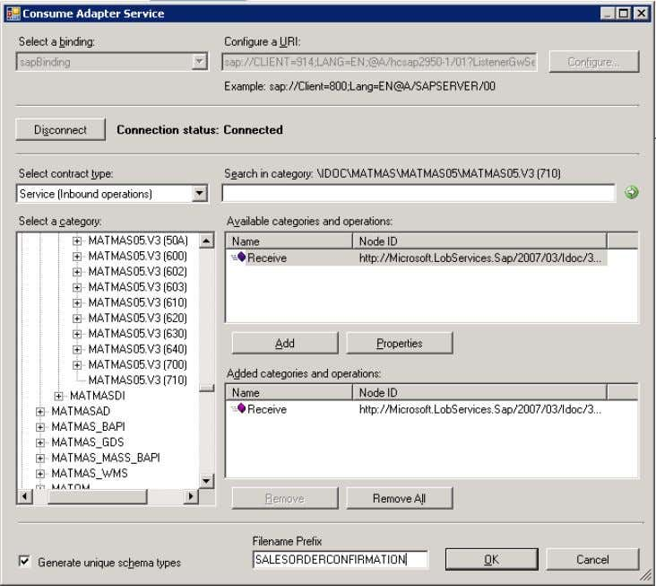 BizTalk Consume Adapter Service 7. In the Configure Adapter dialog box, select the Security tab