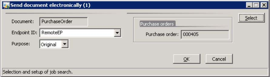 the purchase order number in the Purchase Order field. Step 3: Click OK to add an