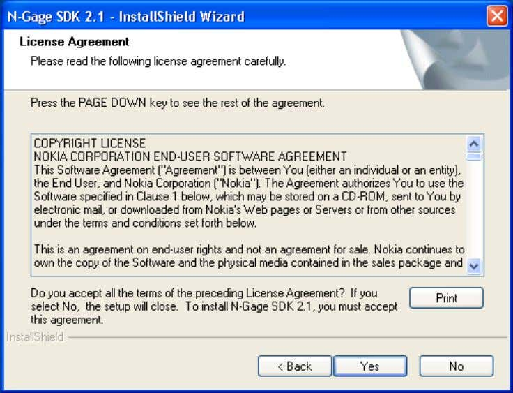 that the SDK Help includes a copy of the license agreement for later reference. Figure 3.