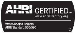 in the Packaged Chiller Builder Selection Program (E-Cat) version 3.29. 5. Contact Carrier for custom ratings.
