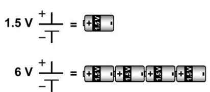 6 ÷ 1.5 = 4. There are four batteries in the circuit. 2. Solving problems In