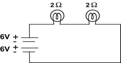the circuit? b. What is the total resistance of the circuit? c. What is the current