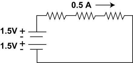 resistor? b. What is the voltage drop across each resistor? c. On the diagram, show the
