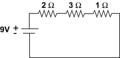 circuit? b. What is the current flowing through the circuit? c. What is the voltage drop