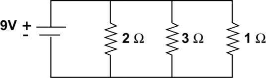 (a) - (d). a. What is the voltage through each branch? b. What is the current