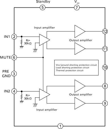 IC Block Diagrams IC501<Vertical.Output> LA78041-E IC001<AUDIO AMP> LA42032 -6-