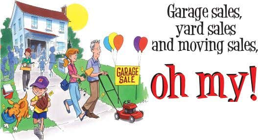 LINCOLN HIGHWAY YARD SALE DELPHOS COMMUNITY GARAGE SALES Thursday, Friday & Saturday August 9-11, 2012