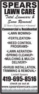 SPEARS LAWN CARE Total Lawncare & Snow Removal 22 Years Experience • Insured Commercial &