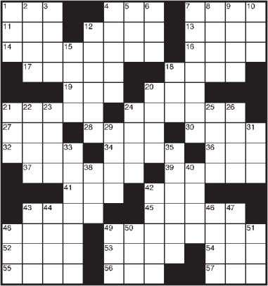Today's Crossword Puzzle ACROSS DOWN 1 Prior to yr. 1 1 Pricey car logo 4 Exclamation