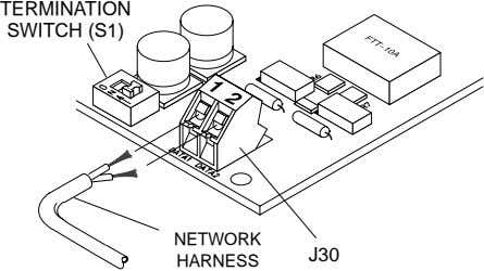 TERMINATION SWITCH (S1) NETWORK J30 HARNESS