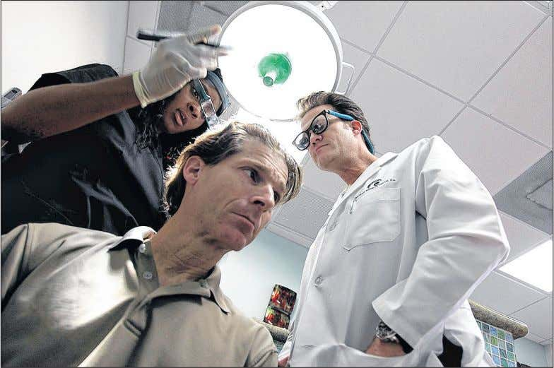 Health reporter seeks remedies for his thinning follicles THOMA S CORDY/Staff Photographer Steve Dorfman has his