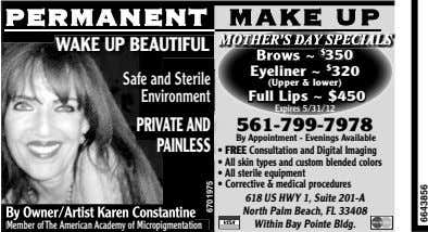 PERMANENTPERMANENT MAKE UP MOTHER'S DAY SPECIALS WAKE UP BEAUTIFUL 350 EyelinerEyeliner ~~ $$ 320320 Safe