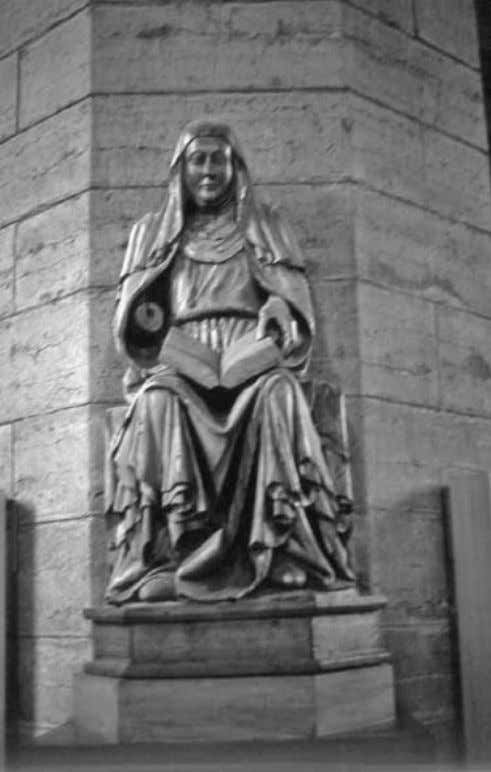 to Sweden as written sources became more and more available. This statue of Saint Birgitta dates