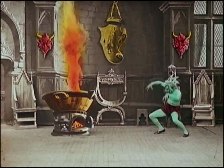 Figure 7 – Hand coloured film - The Infernal Cauldron 1903 (Source: Yumibe, 2013). As