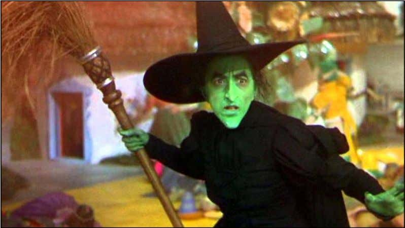 Witch from The Wizard of Oz , as depicted in Figure 33. Figure 33 – The