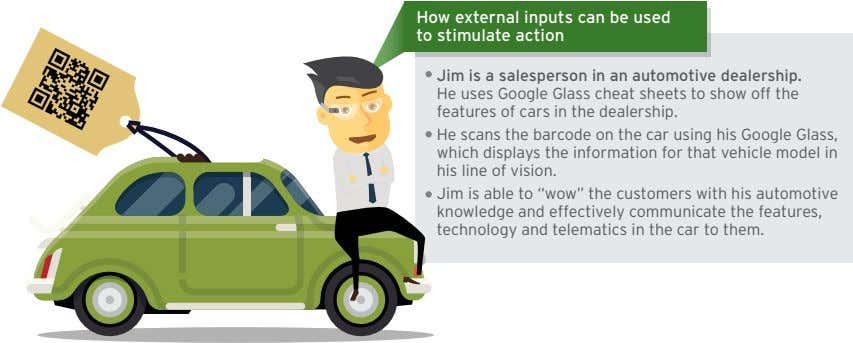 How external inputs can be used to stimulate action Jim is a salesperson in an