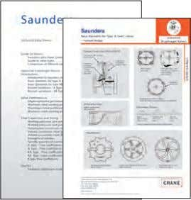 concentration, the suitable material options are identified. Data sheet index and typical valve information Example of