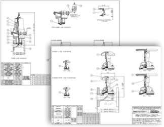 identified. Data sheet index and typical valve information Example of 2D Drawings available on Saunders® website.