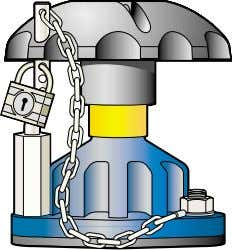 the ingress of dust, dirt and atmospheric contaminates. Padlock Bonnet Restricted valve operation can be achieved
