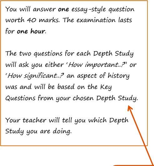You will answer one essay-style question worth 40 marks. The examination lasts for one hour.