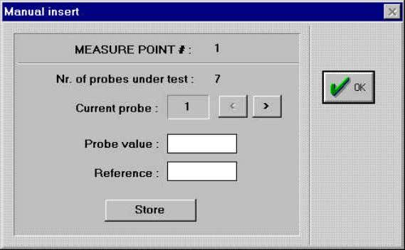 input the values of the probes and of the reference manually Figure 8 MEASURE POINT #.: