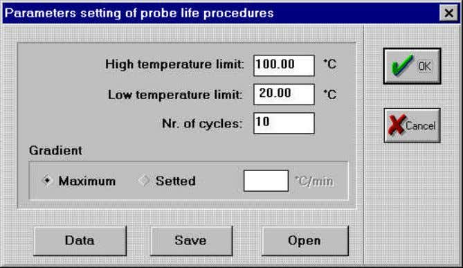 from the Settings menu and enter the required parameters. Figure 8 High temperature limit : Low