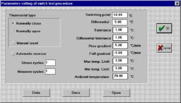 Figure 8 Software Manual n. MM850279 ed. 00 Type of thermostat : this is important information