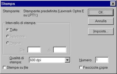appears after pressing the ' Print ' button, change the parameters and press the ' Set