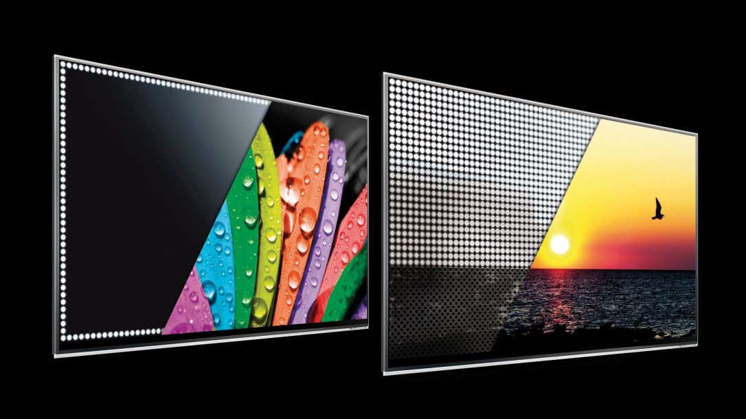 than edge-lit ver- sions, but with the latest technologies Figure 1 LCD TVs can adopt one
