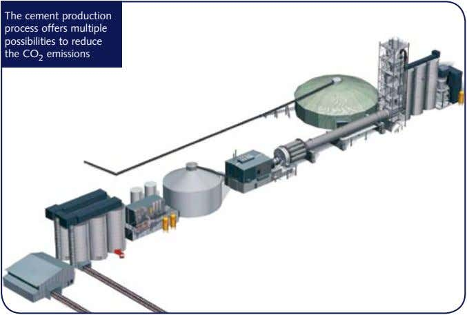 The cement production process offers multiple possibilities to reduce the CO 2 emissions