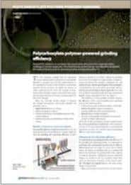 Reprint of July-August 2009: Polycarboxylate polymer-powered grinding efficiency by Jorg M. Schrabback Sika Services AG,