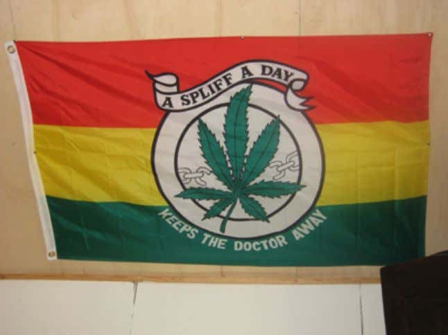 to our Father's land. Exodus! Movement of Jah people! Excuse me while I light my spliff.