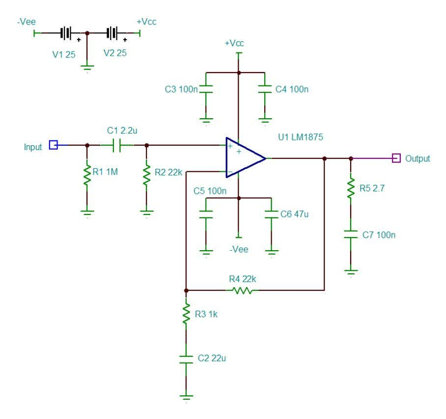 for power output levels with various supply voltage. As for the wiring connections: Amp board :