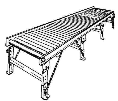  3(a) Gravity Roller Conveyor conveyor For heavy-duty applications Slope for gravity movement depends on load