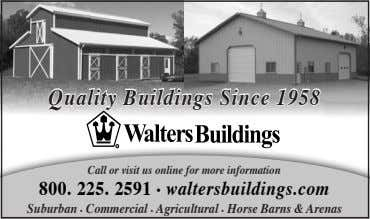 Quality Buildings Since 1958 Call or visit us online for more information 800. 225. 2591