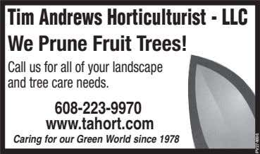 Tim Andrews Horticulturist - LLC We Prune Fruit Trees! Drought get your lawn? Call us