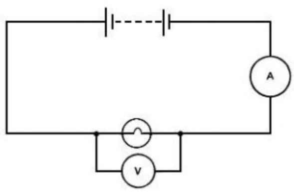 Set up an ammeter somewhere in the series circuit: this will give you the amount of