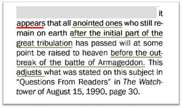 A RMAGEDDON The Watchtower , July 15, 2013, page 8 The GB thus says that it