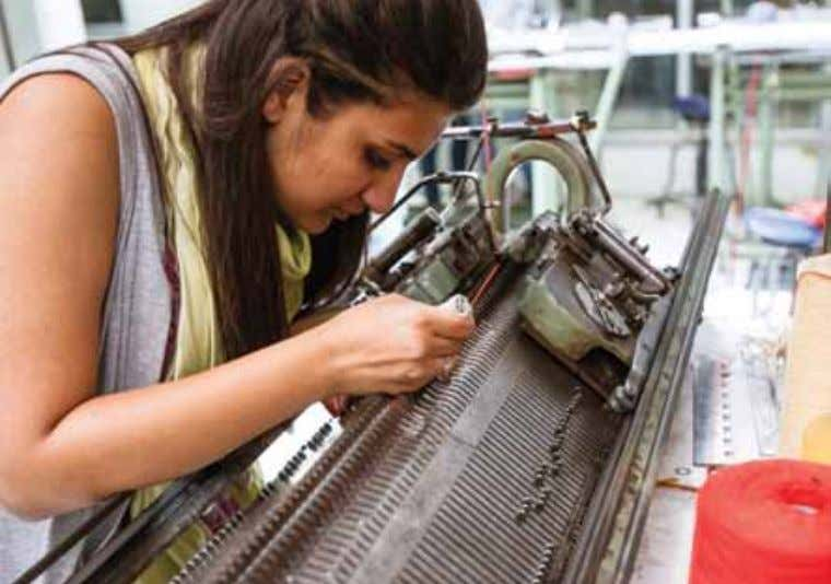 THE ENABLER THE INFRASRUCTURE WEAVING LAB Textile Design Department maintains a weaving lab that is equipped