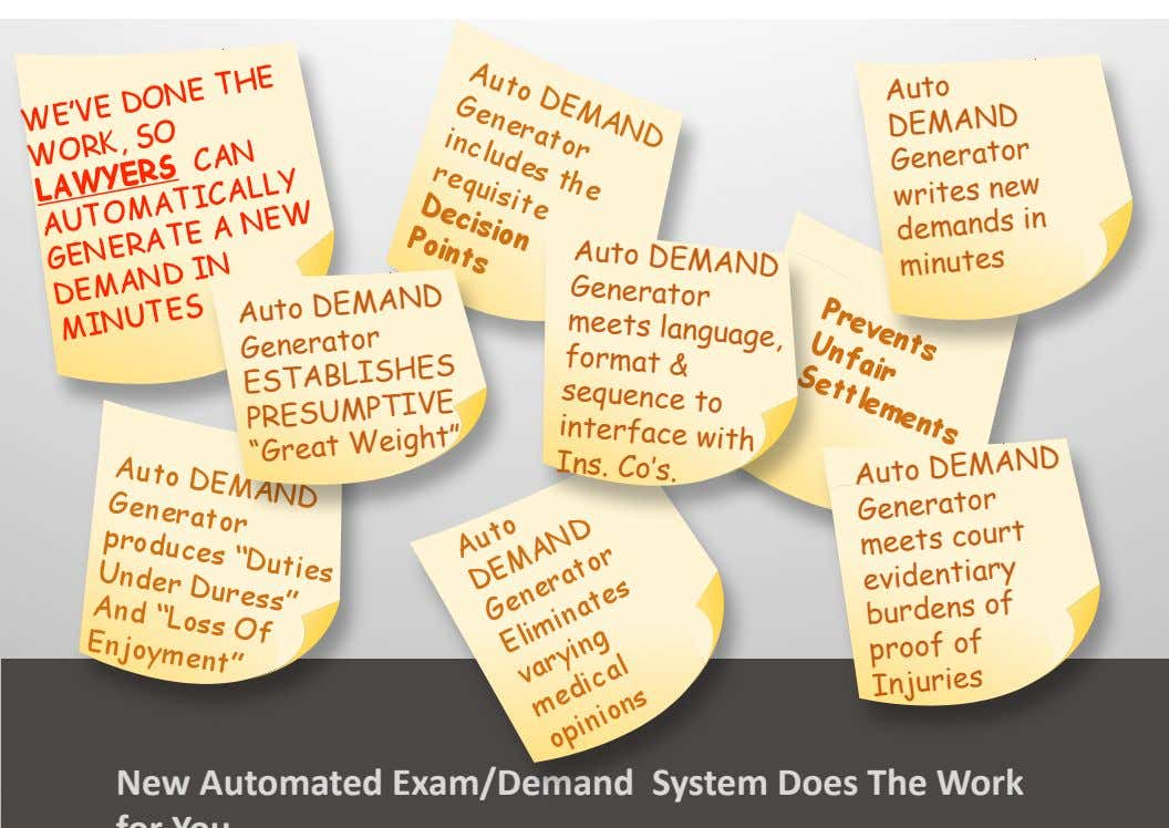 Auto Auto DEMAND Generator DEMAND Generator meets language, writes new in format demands Auto sequence